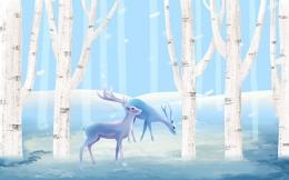 唯美手绘麋鹿森林背景素材,唯美,手绘,麋鹿森林,背景素材,清新,麋鹿,森林,背景,森林麋鹿,森林背景,PSD