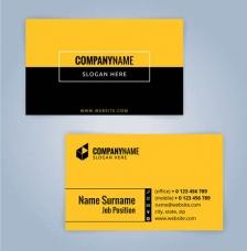 创意设计,设计模板,名片设计,名片模板,简约名片版式,名片正面,名片背面,名片反面,黄色
