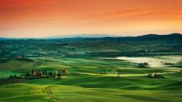 绿色草原 草地 田园 农田 景色 田园景观 大自然风景背景图片