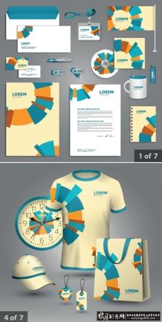 时尚VI设计模板 公司VI效果图 企业VI贴图模板 VI贴图素材 信封贴图 帽子贴图 t恤贴图