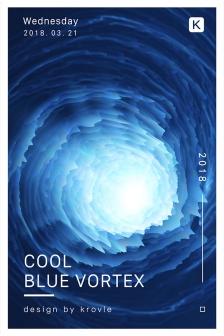 蓝色时尚3D炫酷海报,炫彩,3d,创意,科技,海报,PSD