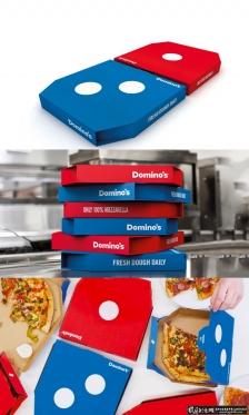 DOMINO的新U。K披萨盒子 创意色子元素披萨包装盒 烘焙食品包装设计 披萨礼盒包装设计