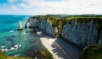 唯美梦幻的大海景色高清图片素材免费下载,漂亮的大海宏伟的山谷高清图片素材免费下载