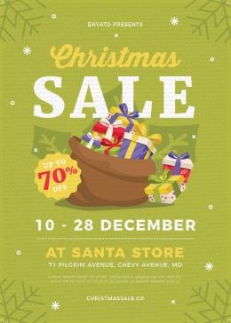 绿色小清新圣诞节促销海报,海报设计,节日海报,圣诞,圣诞节,圣诞节海报,圣诞海报,促销海报,小清新,sale,礼物,PSD
