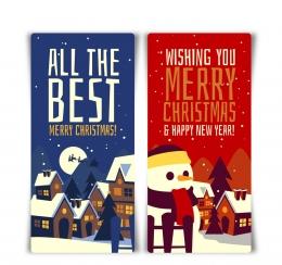 创意圣诞小城banner矢量素材,月亮,圣诞雪橇,圣诞老人,驯鹿,楼房,房屋,雪人,栅栏,圣诞树,雪花,冬季,merry,christmas,创意,圣诞节,城镇