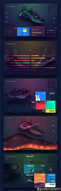 男鞋UI 运动鞋UI网页设计 上午男鞋广告设计 创意男鞋海报设计 时尚男鞋网页设计欣赏