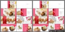简约美食宣传册模板psd,饭店菜谱菜单,面包蛋糕点心烘焙食品画册 面食餐饮画册美食画册
